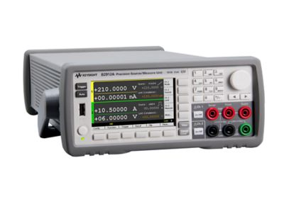 Keysight B2912A Precision Source/Measure Unit, 2ch, 10fA resolution, 210V, 3A DC/10.5A pulse