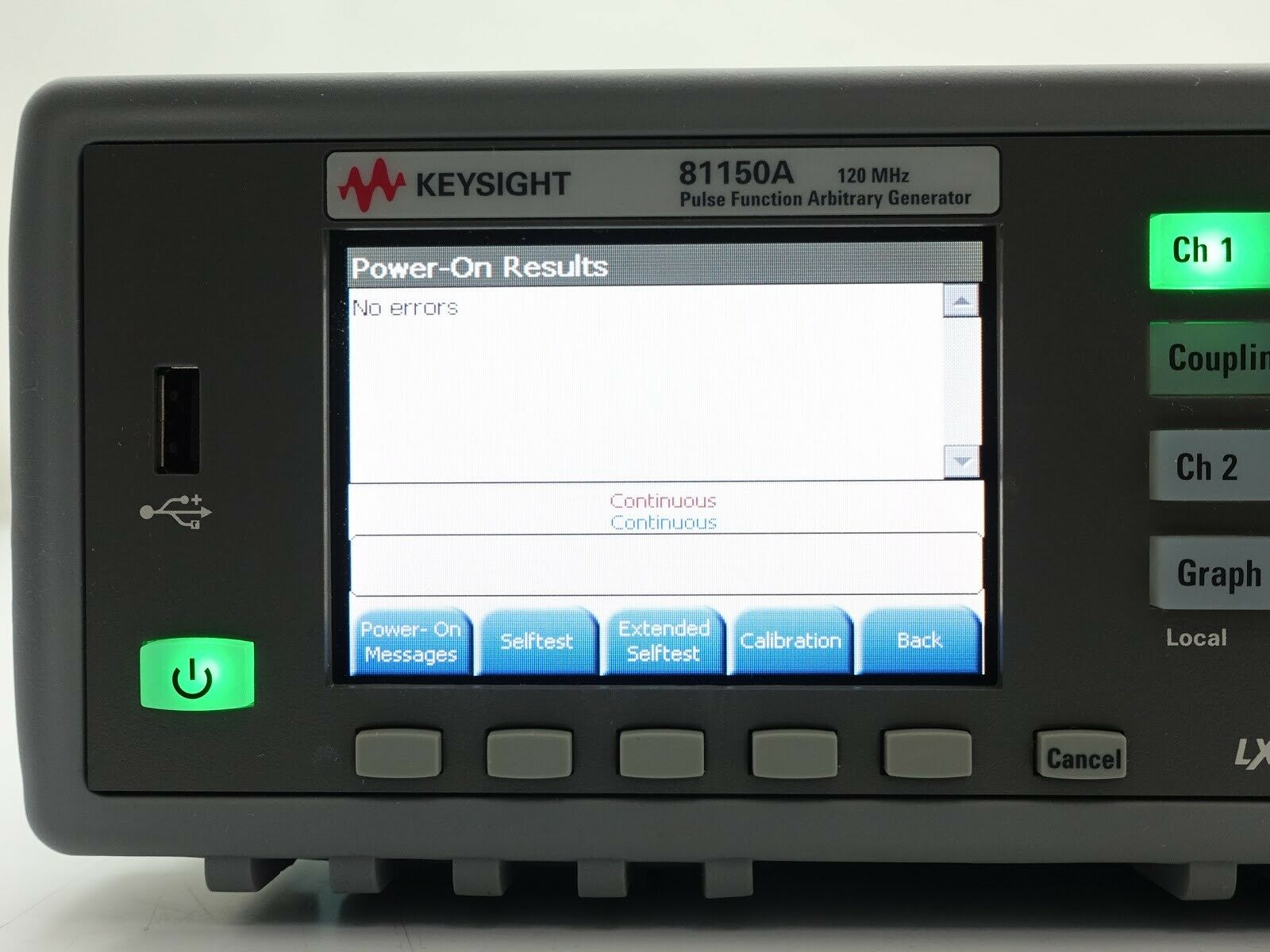 Keysight 81150A-002 2 Channel